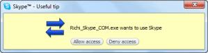 Richi Skype MP3 Grant Access - Tutorial