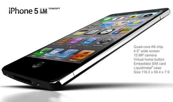 Liquid Metal iPhone 5 Concept