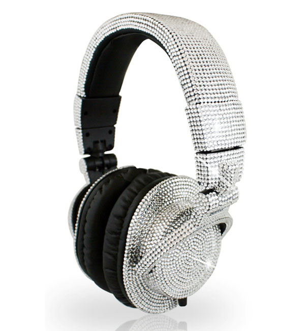 DJ Headphone made from Swarovsky crystal