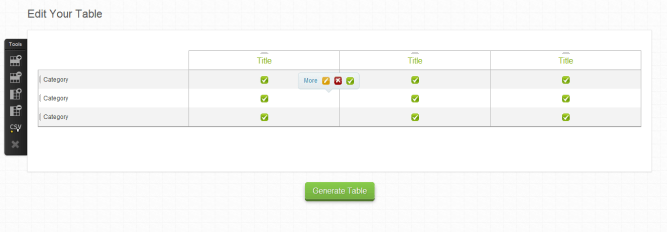 Compare Ninja HTML CSS TABLE