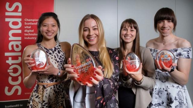 Young Software Engineer of the Year Awards 2017: Orisa Ngampakdeepanich, Gala Malbasic, Irina Camilleri, Amy Parent