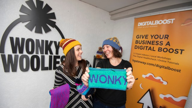Kate Forbes MSP, Minister for Public Finance and Digital Economy, is visiting Wonky Woolies in Kelso