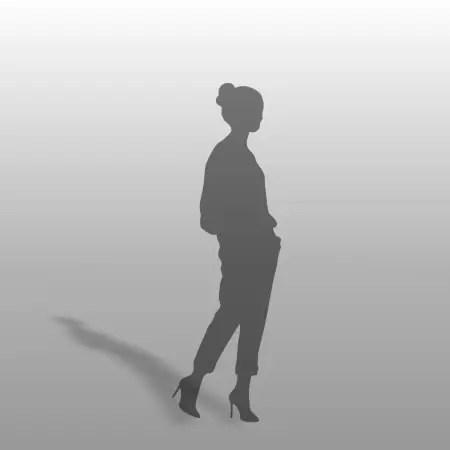 formZ 3D シルエット silhouette 女性 パンプス ハイヒール