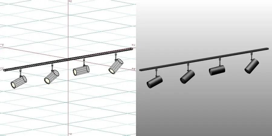 formZ 3D インテリア 照明器具 lighting equipment スポットライト spotlight 配線ダクト LED