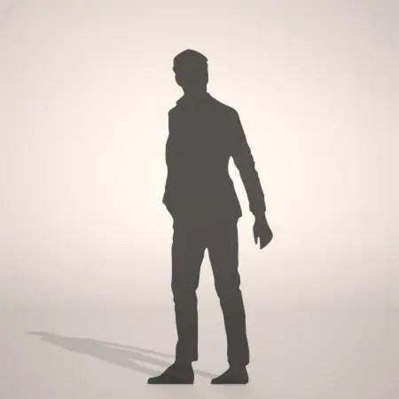 formZ 3D シルエット silhouette 男性 man ジャケット スーツ 背広 business suit 会社員 ビジネスマン businessman サラリーマン