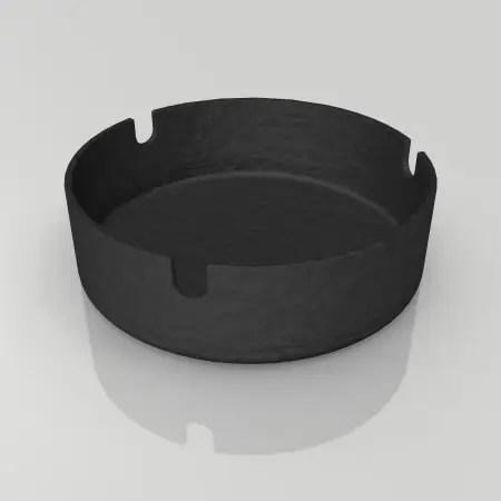 formZ 3D インテリア interior 雑貨 miscellaneous goods 黒い鋳物の灰皿 ashtray