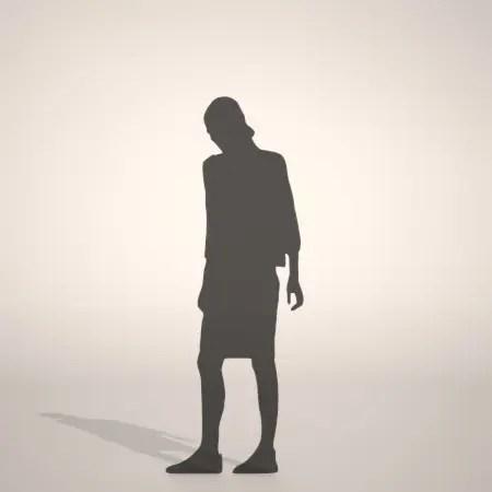 formZ 3D シルエット silhouette woman female lady skirt ペンシルスカートを穿いた女性