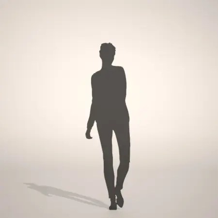 formZ 3D silhouette woman female lady skinny pants スキニーパンツを穿いたのシルエット