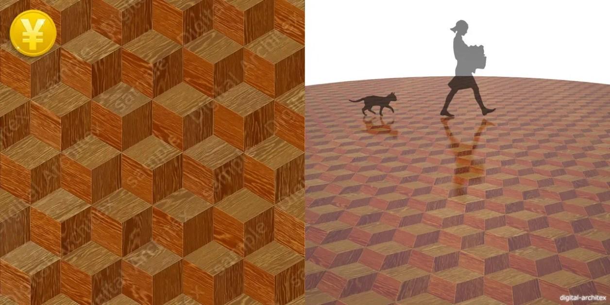2D,テクスチャー,texture,JPEG,木質,floor,wooden flooring,wood,茶色,brown,松の寄木デザイン張りのフローリング,パイン,pine,木目,柾目
