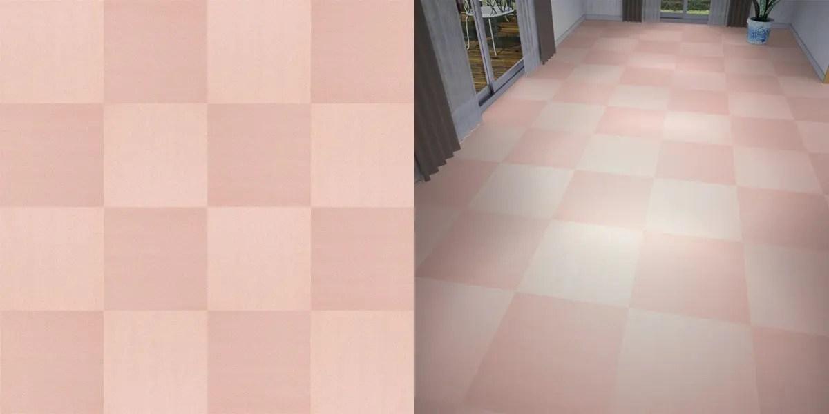 タイルカーペットのシームレステクスチャー丨床材 市松張り丨無料 商用可能 フリー素材 フリーデータ丨サンゲツ NT746