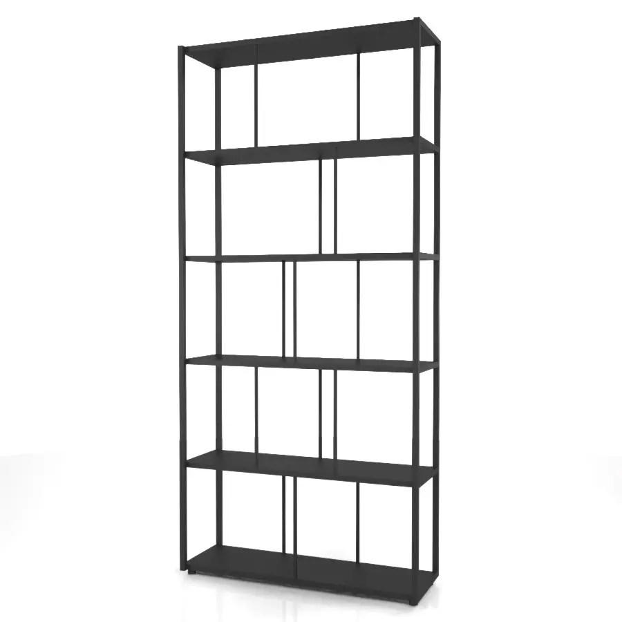 背の高い黒いラックの 3DCADデータ丨インテリア 家具 棚・ラック丨無料 商用可能 フリー素材 フリーデータ丨データ形式はformZ ・3ds・objファイルです