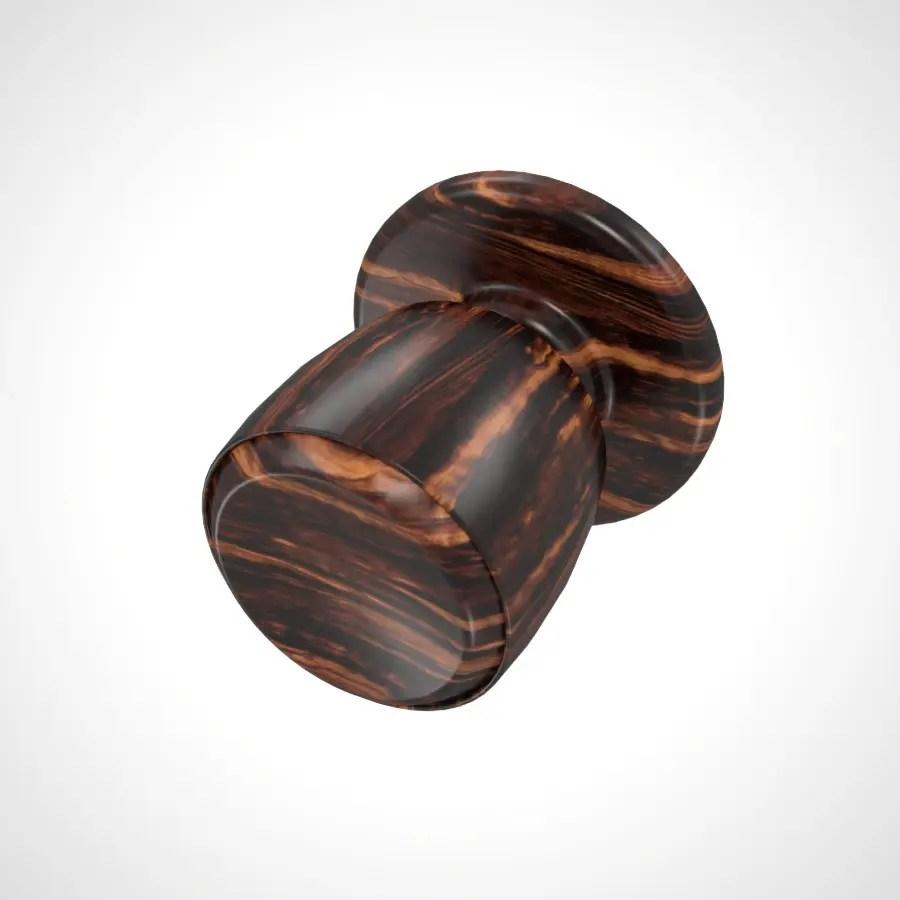 濃い茶色の 木目の入ったドアノブの3DCADデータ丨建築 建具金物 ドアノブ丨無料 商用可能 フリー素材 フリーデータ丨データ形式はformZ ・3ds・objファイルです