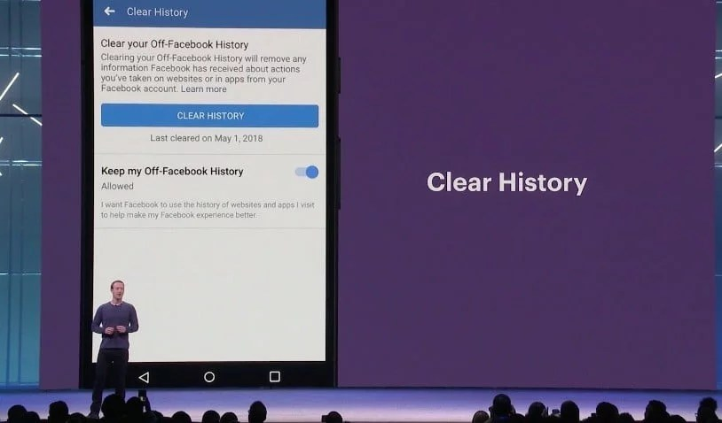 facebook clear history f8 2018
