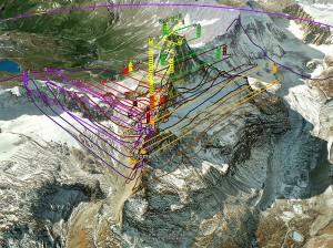 Flugplan E-Bee am Matterhorn