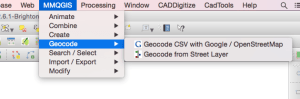 Choose mmqgis' geocoding feature