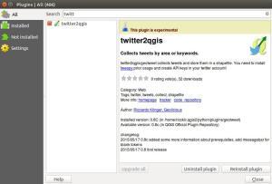geotweet twitter2qgis