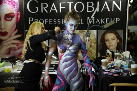 Body Painting at the Graftobian Booth.