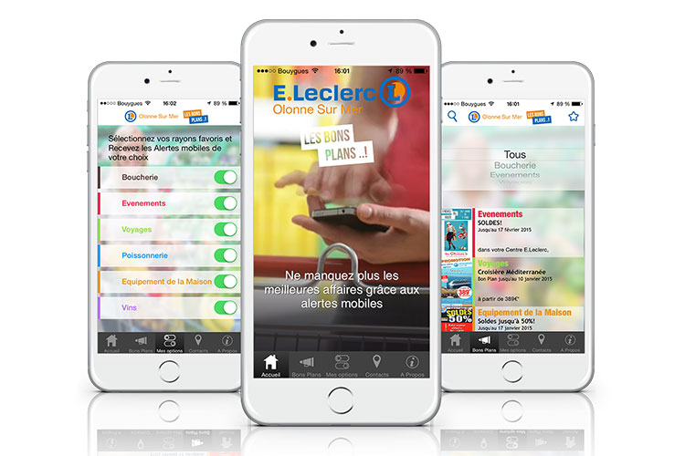 screenshots bonsplans leclerc bons plans application