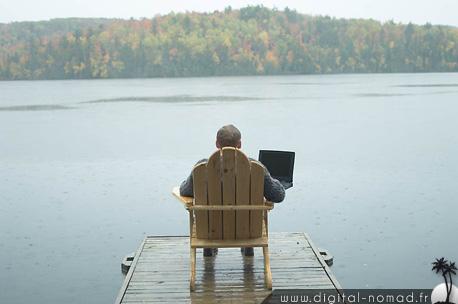 Un digital nomad au travail !