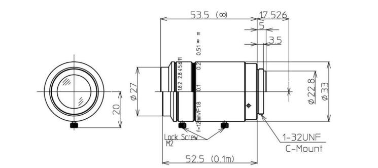 Navitar Machine Vision 1-19554 12 mm F/1.8 2/3