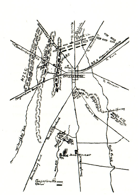 Gettysburg Map Battle