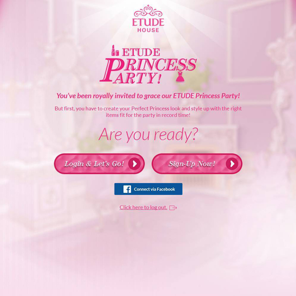 Screen grab of the Etude House Microsite - Web Design & Development