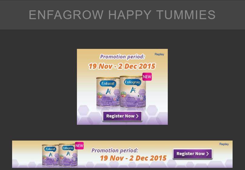 A set of GDN Banner Ads for Enfagrow Happy Tummies - Digital Advertising