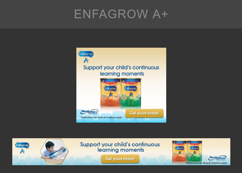 A set of GDN Banner Ads for Enfagrow - Digital Advertising