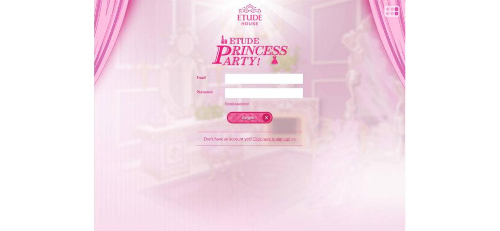 Screen grab of the Etude House Microsite - Web Design & Development