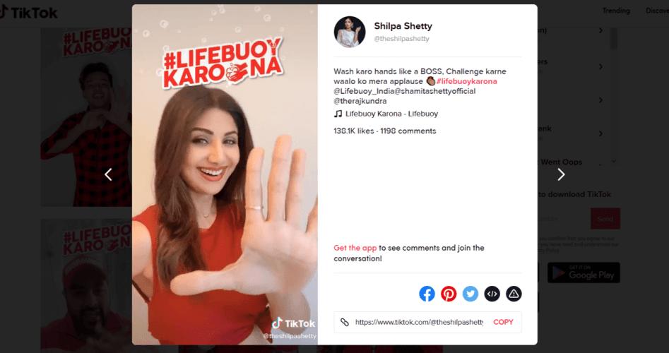 Shilpa-Shetty-joins-the-LifebuoyKarona-Hashtag-Challenge-on-TikTok