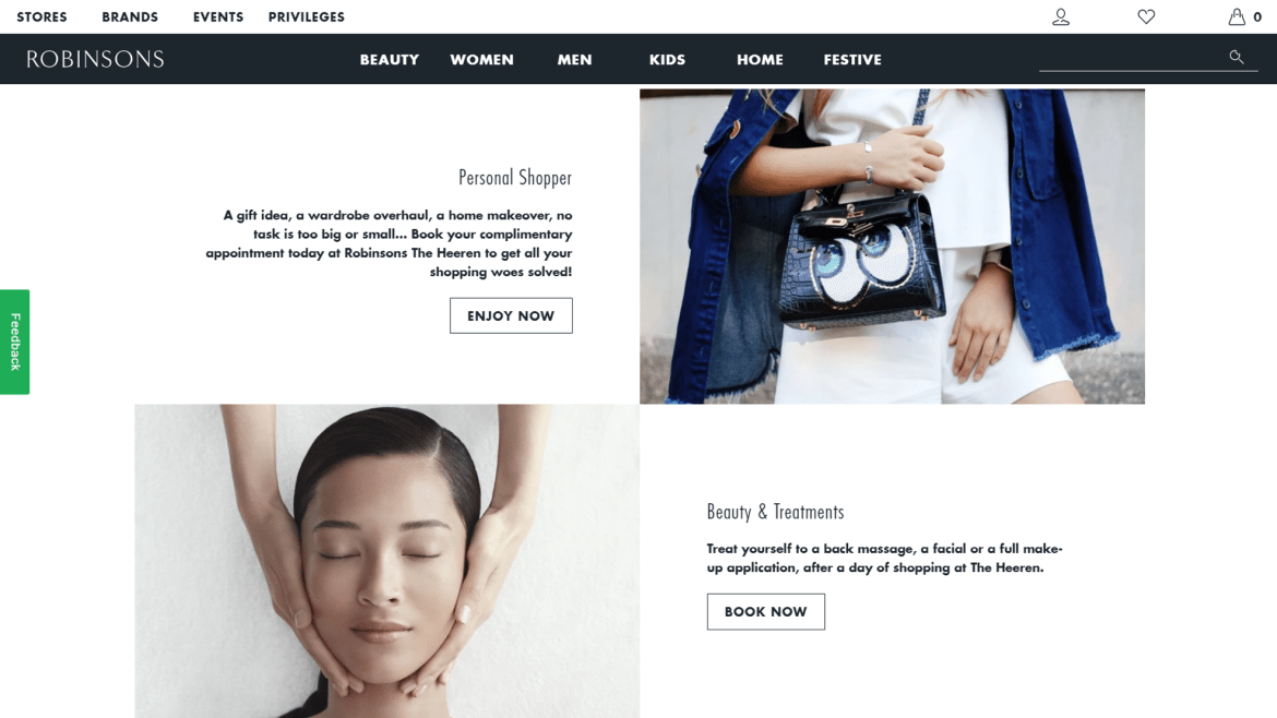 Robinsons SG with Shopify E-commerce Platform | Theme features |