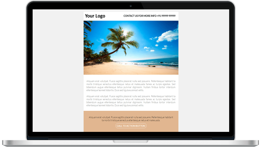 Background Color Responsive HTML Mailer Template