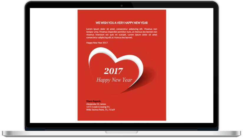 New Year Responsive HTML Mailer Template