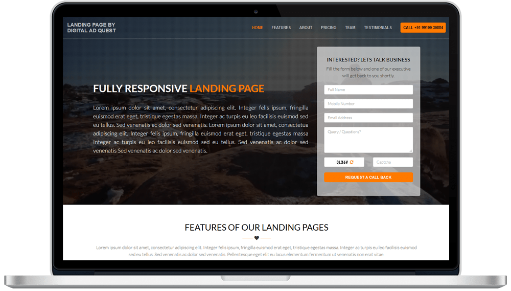 Landing Page Designing Services in Delhi India