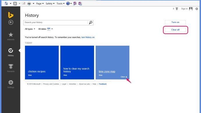 How To Delete Bing Search History