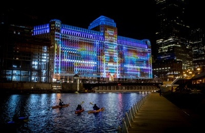 'ART ON theMART' by Digital Obscura