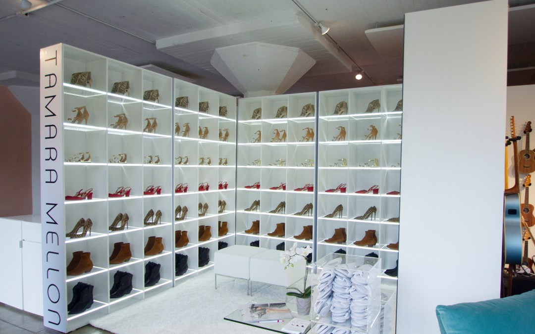 Tamara Mellon: Floating Shoe Booth
