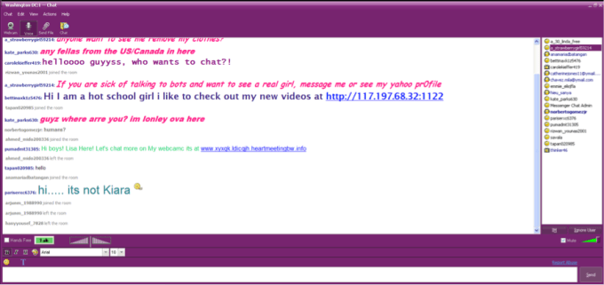 Yahoo Chat Rooms In Android Mobile