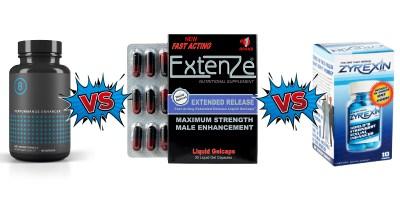 Performer 8 vs Extenze vs Zyrexin