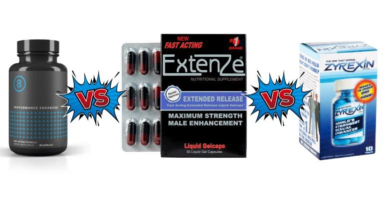 Performer8 vs Extenze vs Zyrexin