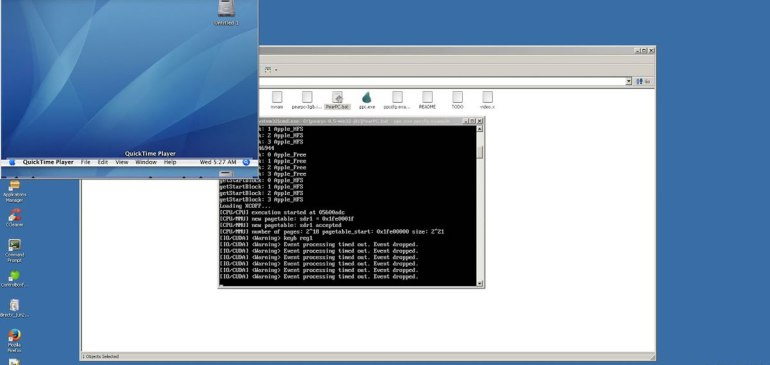 Mac OS X 10.4 Running in Windows Alternative ReactOS via PearPC Emulator