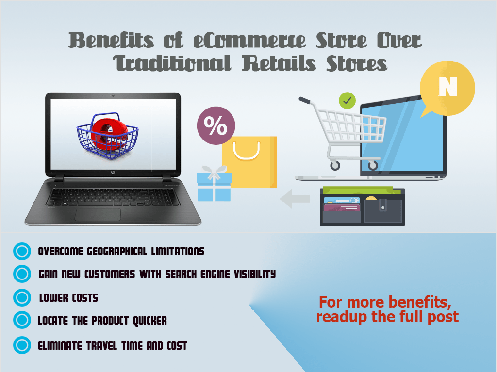 Benefits of eCommerce Store Over Traditional Retails Store