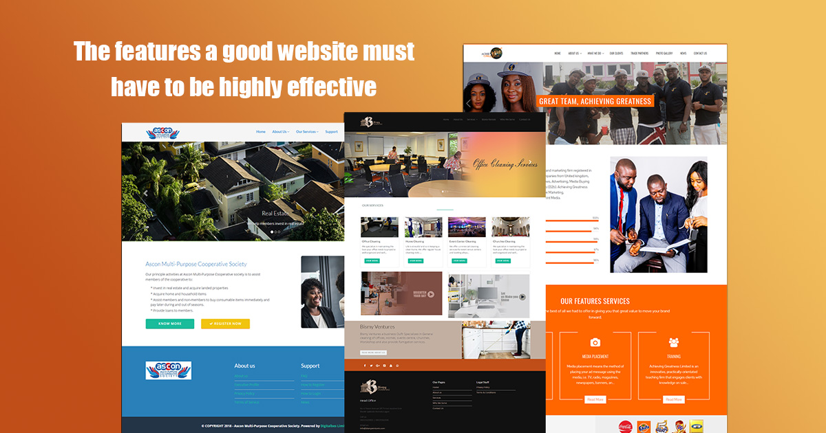 The features a good website you must have to be highly effective