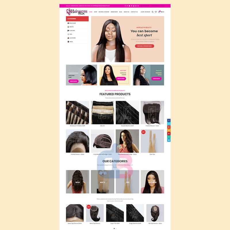 hairgazym beauty - Digitalbes Limited Development