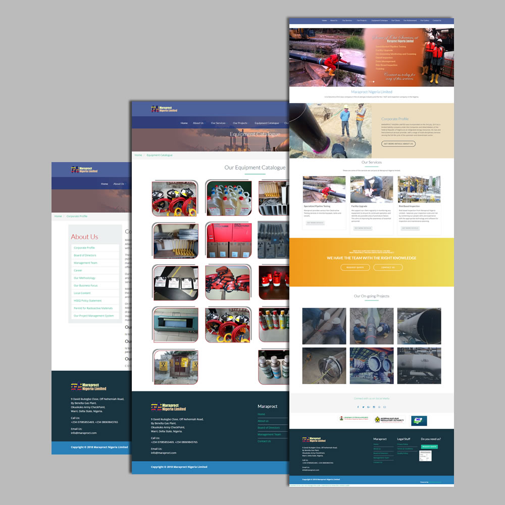 Website Design Services for Maraproct Limited