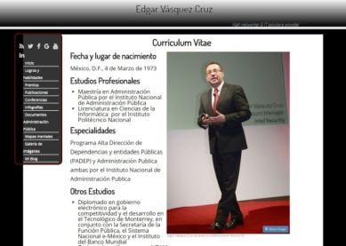 Sitio web de Edgar Vasquez Cruz