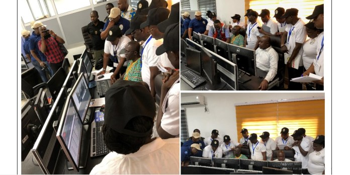 NCS visit at Douala SGS Scanning SGS D-TECT