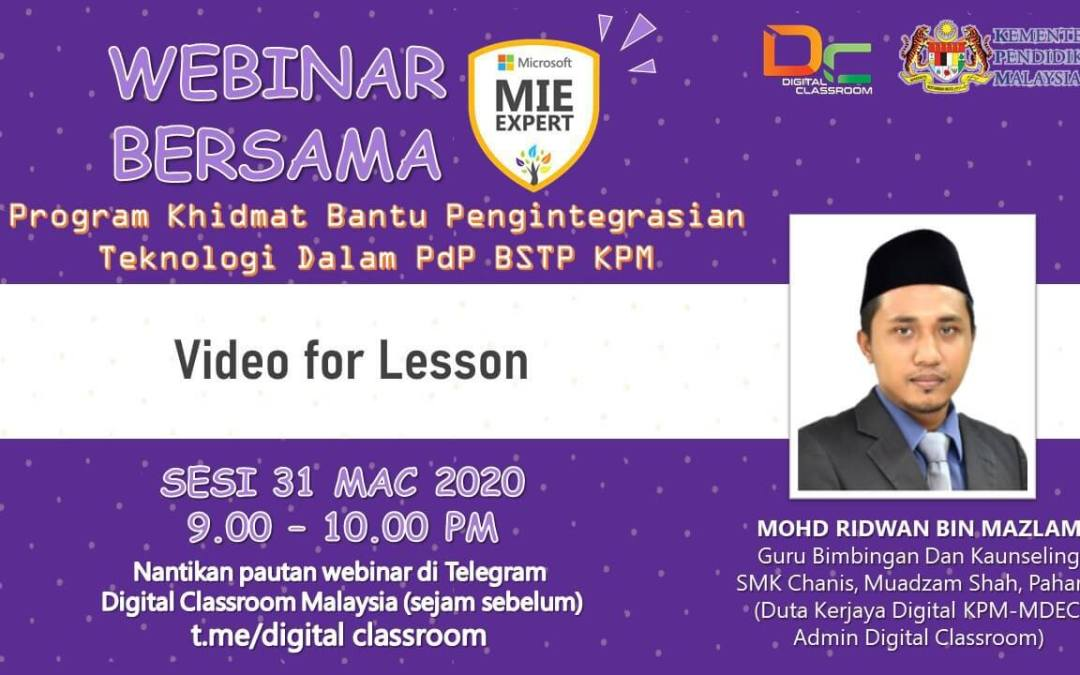 Webinar Video for Lesson