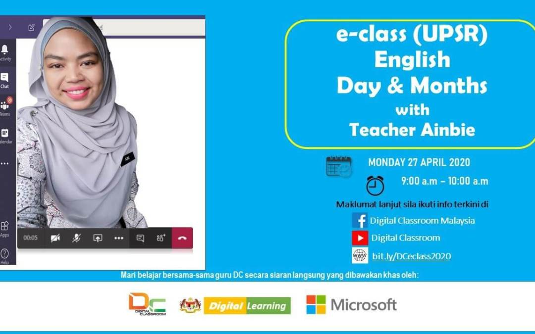 English (UPSR) Day & Months bersama-sama Teacher Ainbie