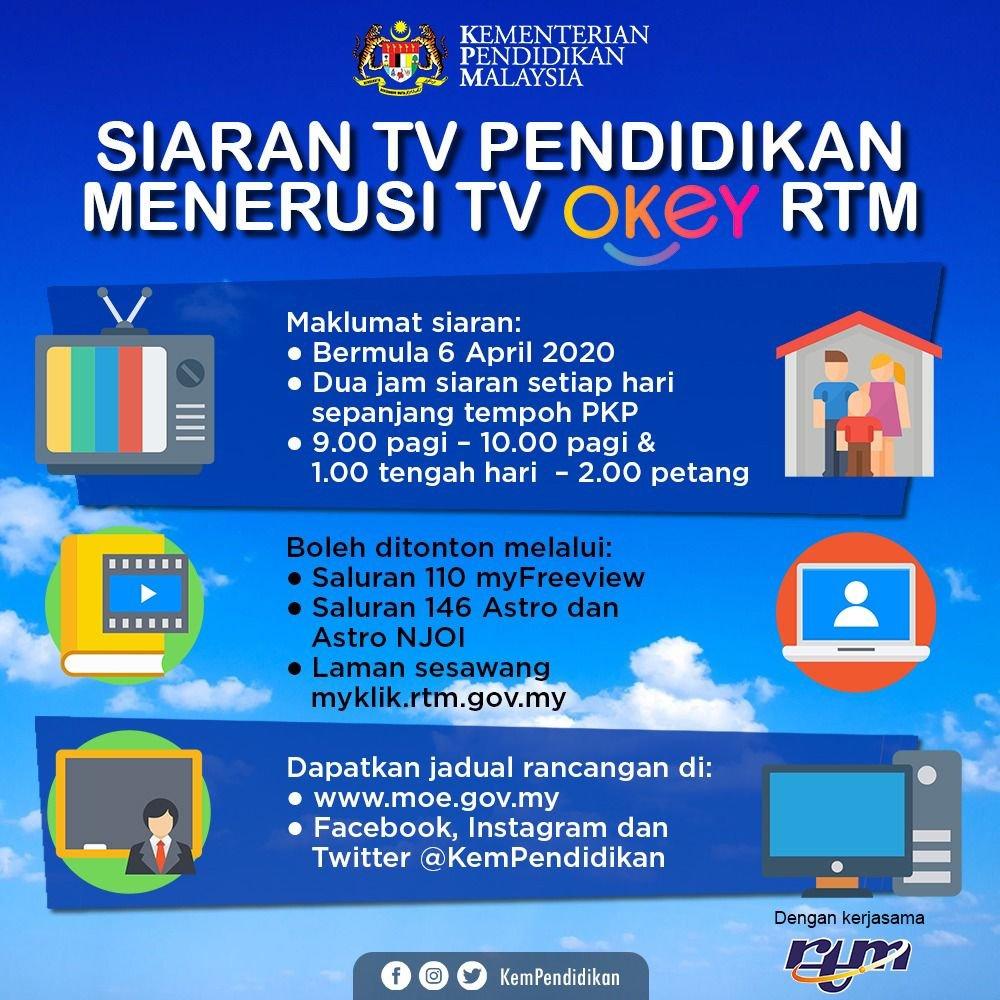 Siaran TV Pendidikan di TV OKey RTM